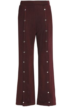 T by ALEXANDER WANG Button-detailed jersey track pants