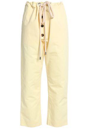 MARNI Cotton and linen-blend wide-leg pants