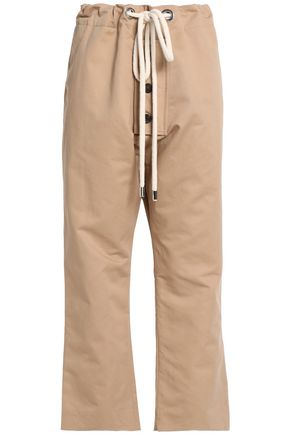 MARNI Cotton and linen-blend wide-leg pants