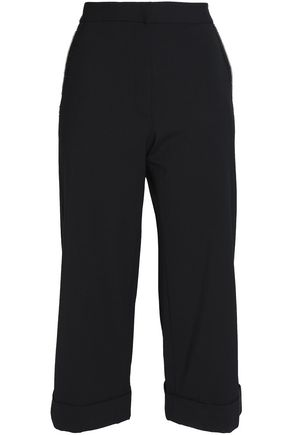 ALEXANDER WANG Cropped twill wide-leg pants