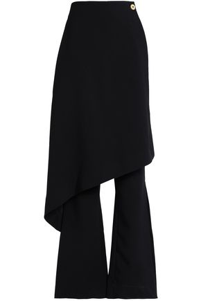 SOLACE LONDON Layered crepe flared pants