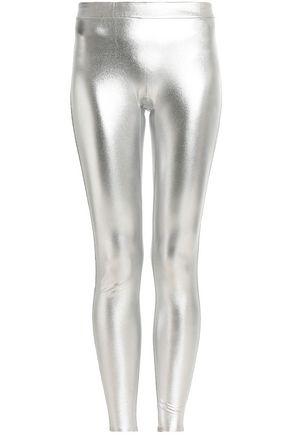 HALSTON HERITAGE Metallic stretch leggings