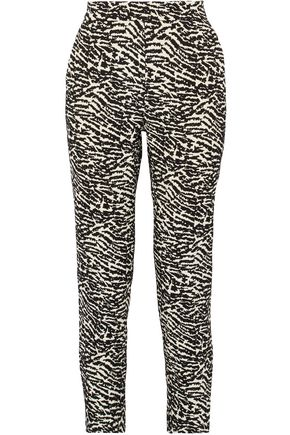 MAX MARA Aramis cotton-blend jacquard straight-leg pants