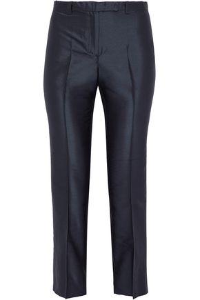 MAX MARA Ruth cropped silk-shantung slim-leg pants