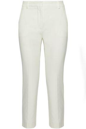 MAX MARA Cropped cotton-blend slim-leg pants