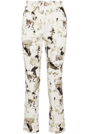 MAX MARA Minorca printed cotton-blend twill straight-leg pants