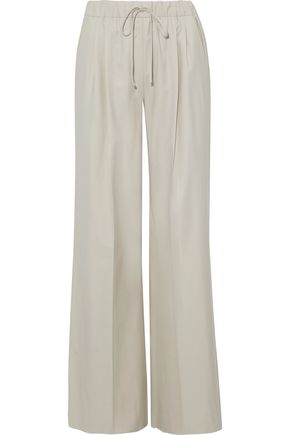 MAX MARA Sandra wool-twill wide-leg pants