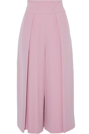 MILLY Pleated cady culottes