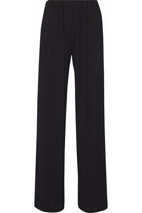 MAX MARA Cabina plissé-crepe wide-leg pants