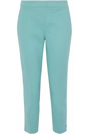 Cordova Cropped Crepe Tapered Pants in Mint