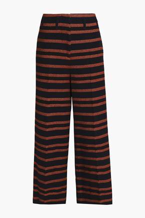 BY MALENE BIRGER Striped twill wide-leg pants