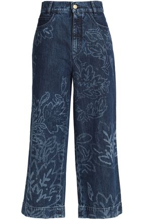 PETER PILOTTO Printed high-rise wide-leg jeans