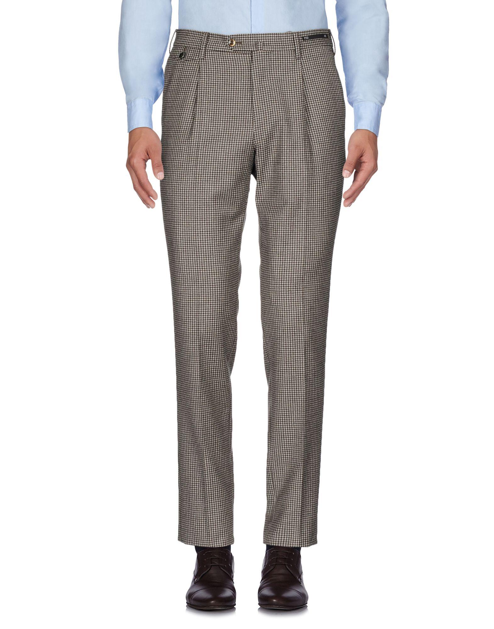 《送料無料》PT01 メンズ パンツ ダークブラウン 50 スーパー110 ウール 100%