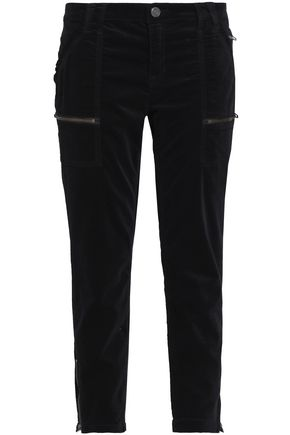 JOIE Park cotton-blend velvet tapered pants