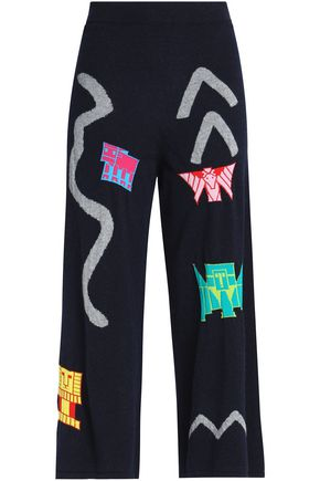 PETER PILOTTO Intarsia wool-blend culottes