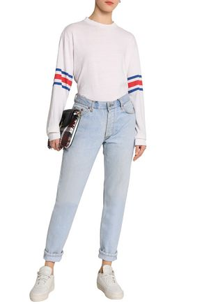 RE/DONE by LEVI'S Distressed mid-rise straight-leg jeans