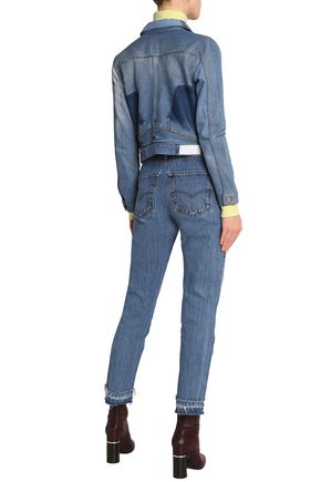 RE/DONE by LEVI'S Distressed high-rise slim-leg jeans