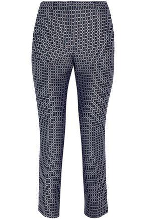 MAX MARA Cropped jacquard slim-leg pants