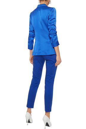 MAX MARA Cotton-blend slim-leg pants