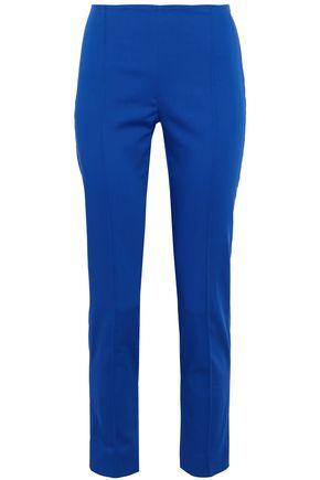 MAX MARA Luglio cropped cotton-blend slim-leg pants