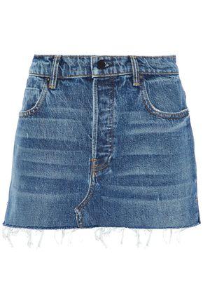 ALEXANDER WANG Distressed denim mini skirt