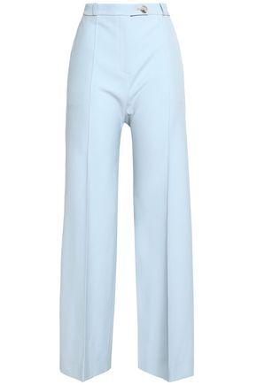 ALEXACHUNG Wool-twill bootcut pants