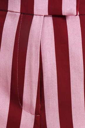 ALEXACHUNG Striped crepe wide-leg pants