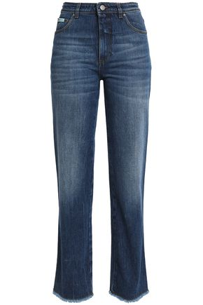 ALEXA CHUNG Faded mid-rise straight-leg jeans