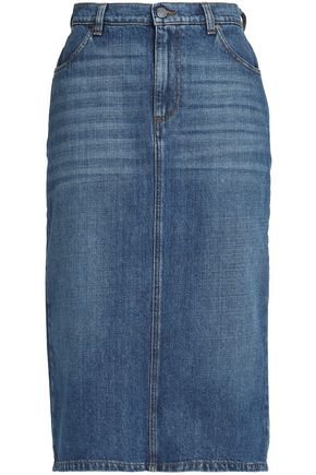 ALEXA CHUNG Faded denim skirt