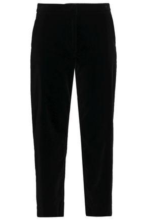 GOAT Cropped velvet straight-leg pants