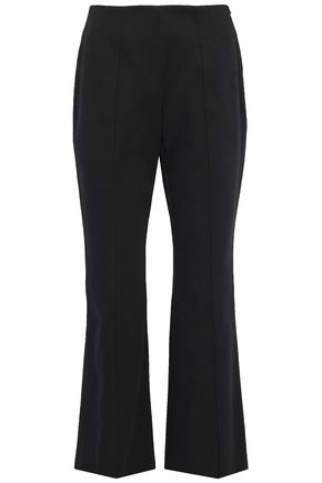 SONIA RYKIEL Cropped cotton-twill flared pants