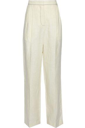 SONIA RYKIEL Pleated linen wide-leg pants