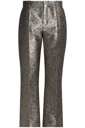 LANVIN Brocade straight-leg pants