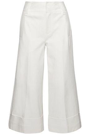 DEREK LAM 10 CROSBY Stretch-cotton culottes