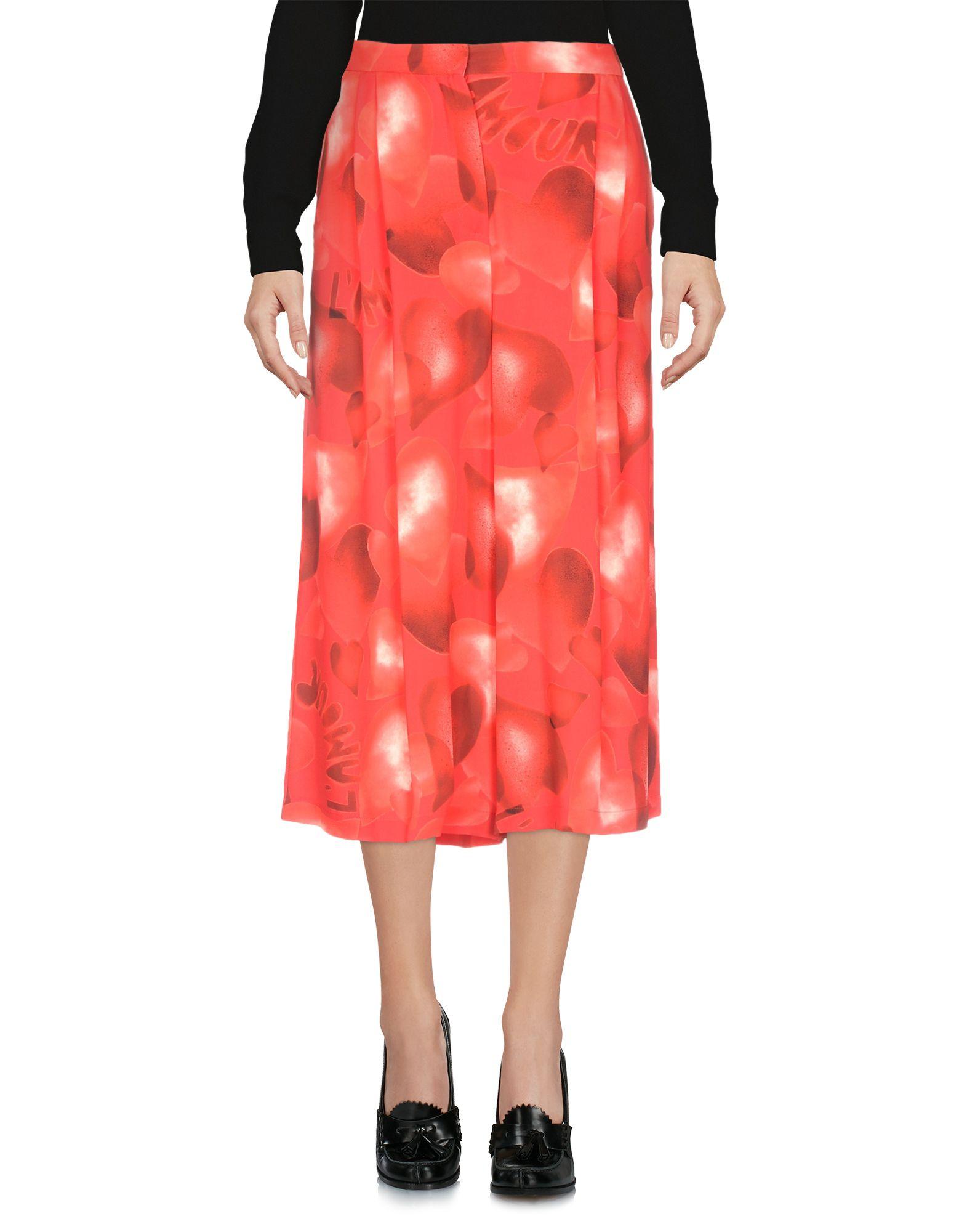 VALENTINO Юбка длиной 3/4 valentino юбка с цветочной аппликацией