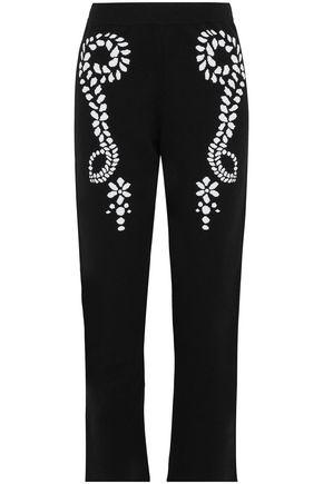 SONIA RYKIEL Jacquard-knit straight-leg pants