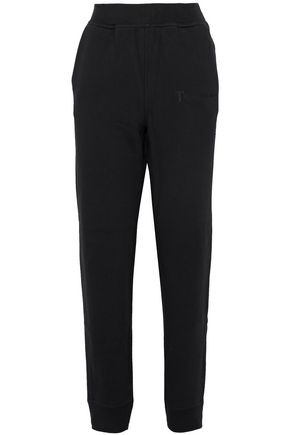 T by ALEXANDER WANG Embroidered cotton-blend track pants