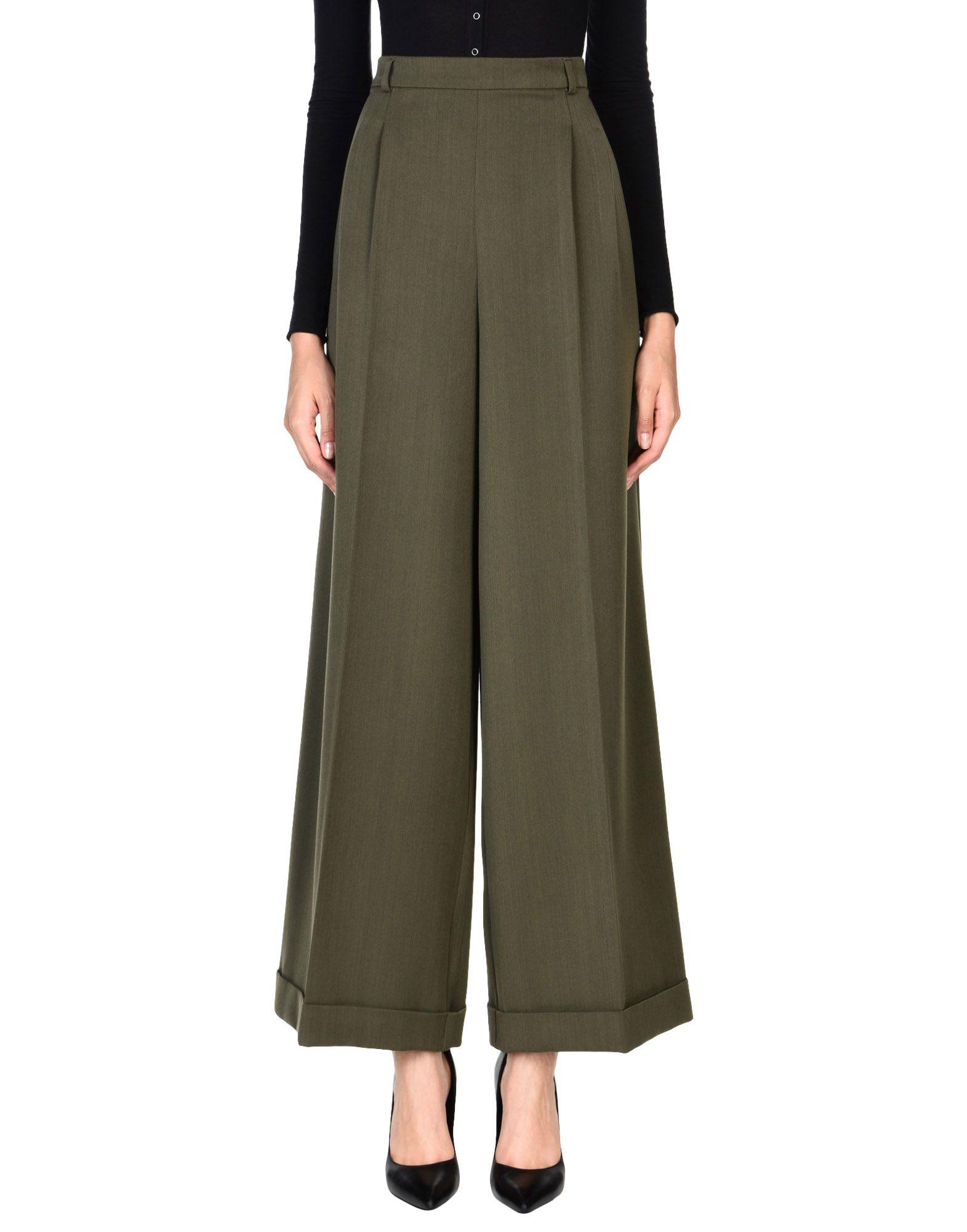 OUVERT DIMANCHE Повседневные брюки брюки широкие из саржи стрейч
