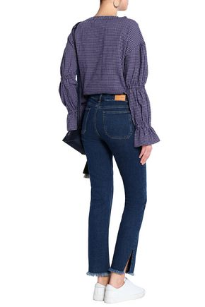 M.I.H JEANS Frayed mid-rise skinny jeans