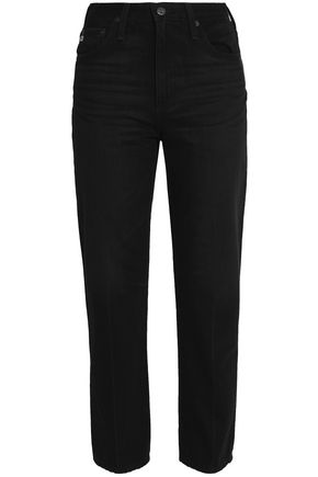 AG Jeans High-rise straight-leg jeans