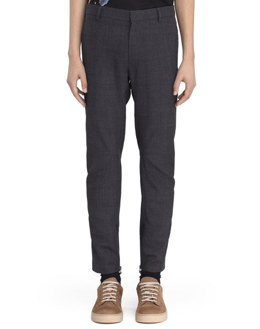 DARK BLUE BIKER PANTS - Lanvin