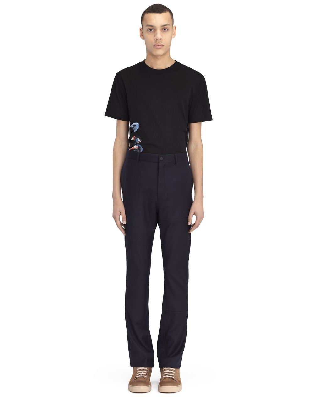 PANTS WITH RAW-EDGED SEAMING - Lanvin