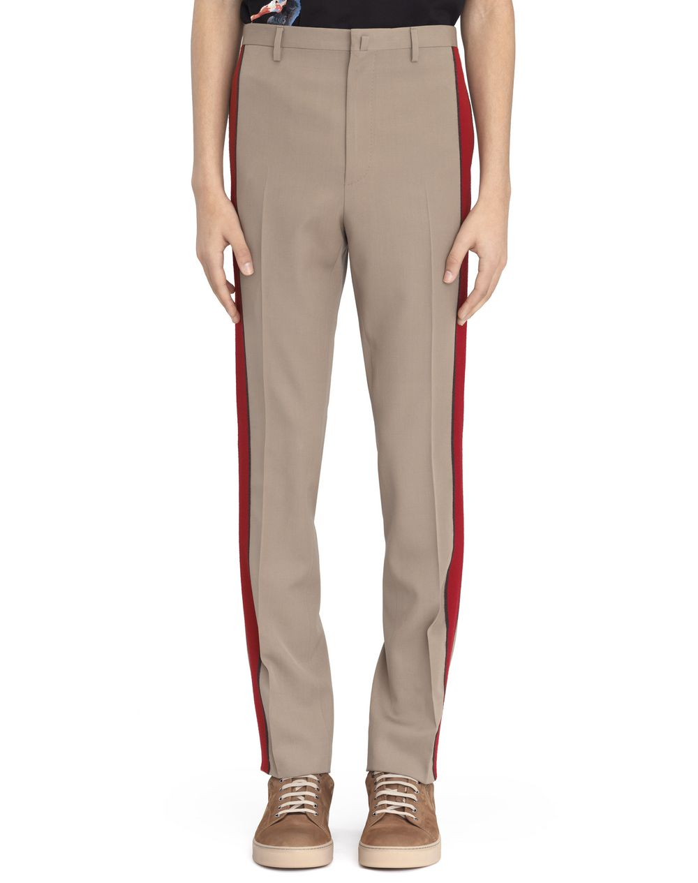 STRAIGHT-FIT PANTS WITH STRIPE  - Lanvin