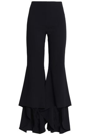 ALICE + OLIVIA Jinny ruffled crepe flared pants