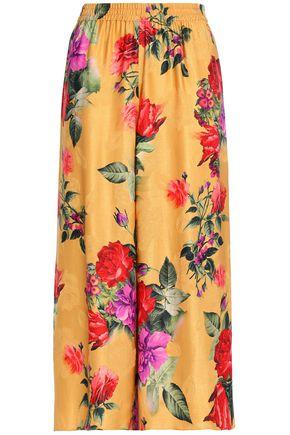 ALICE+OLIVIA Elba floral-print jacquard culottes