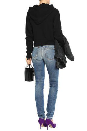 ALEXANDER WANG Faded mid-rise slim-leg jeans