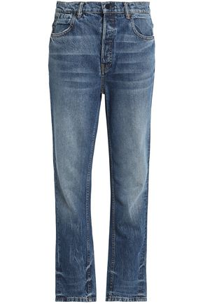 ALEXANDER WANG Faded mid-rise straight-leg jeans