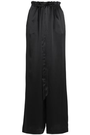 SACHIN & BABI Silk-satin wide-leg pants