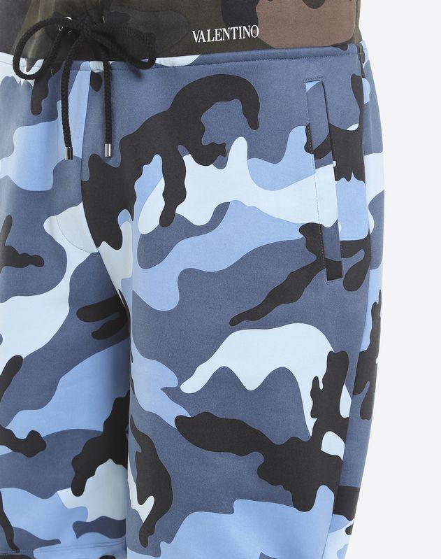 Camouflage-print jersey Bermuda shorts