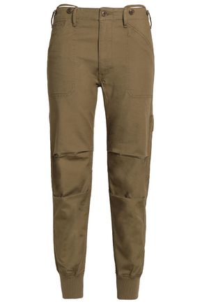 VINCE. Cotton-blend tapered pants